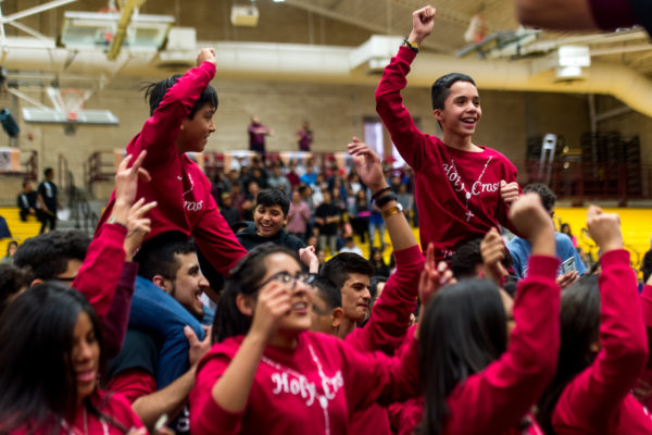 DENVER, CO - MARCH 18: Hispanic youth encounter at the Ritchie Center at the University of Denver on March 18, 2017, in Denver, Colorado. (Photo by Anya Semenoff/for the Catholic Foundation Alliance)